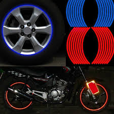 led strobe lights for motorcycles wheel sticker reflective rim strip for motorcycle car automo