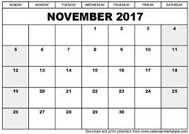 november 2017 calendar excel printable 2017 calendars