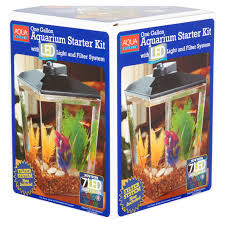 Aquarium For Home Decoration Aqua Culture 1 Gallon Aquarium Kit With Led Lighting U0026 Natural