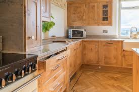 handmade solid pippy oak kitchen completed in sheffield by concept