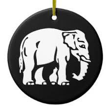 white elephant ornaments keepsake ornaments zazzle