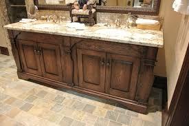 rustic bathroom double vanities interior design
