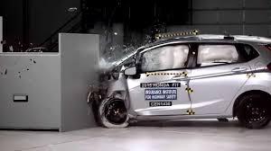 small car honda fit photos iihs 2015 honda fit small overlap crash test acceptable