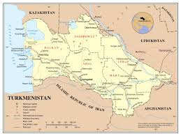 Russia And Central Asia Map by Maps Of Turkmenistan Detailed Map Of Turkmenistan In English
