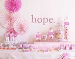for a cure breast cancer awareness month dessert table