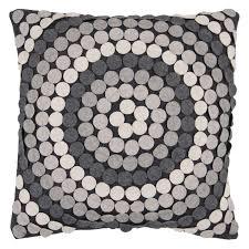 Grey Decorative Pillows Surya Lots Of Dots Grey Decorative Pillow Gray Hayneedle