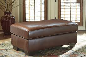 Leather Match Upholstery Ottomans With Durablend Upholstery Contemporary Style And Tufted