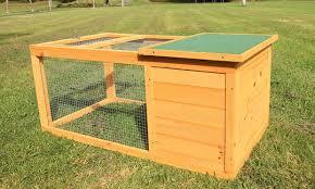 Rabbit Hutch Extension Weatherproof Rabbit Or Chicken Hutch Groupon Goods