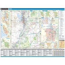 Utah National Park Map by Rand Mcnally Utah State Wall Map