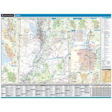 Park City Utah Map by Rand Mcnally Utah State Wall Map