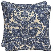Plantation Patterns Seat Cushions by Polyester Outdoor Pillows Outdoor Cushions The Home Depot