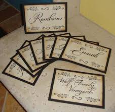 Wedding Table Signs Accucut Craft Blog Wine Country Wedding