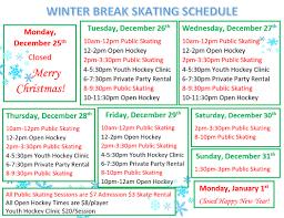 winter schedule inline 309 indoor hockey