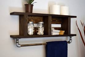 Bronze Bathroom Shelves Bathroom Bathroom Shelf With Towel Bar Magnificent White