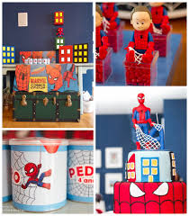 kara u0027s party ideas spiderman themed birthday party idea decor