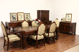 Antique Dining Room Sets Sold Renaissance Carved 1920 Banded Dining Table Without Chairs