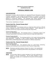 resume exles for therapist physical therapy director sle jobcription dietary aide duties