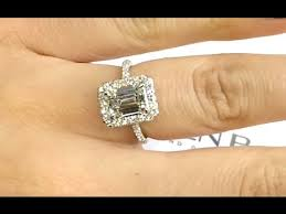 emerald cut engagement rings 2 carat 2 carat emerald cut halo engagement ring