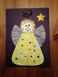 angel craft christmas craft preschool craft painted with