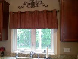 ideas for kitchen window treatments window valance ideas hang scarf
