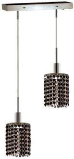 black crystal pendant light aurora 240v pl c cast aluminium fixed stem 1m length cf pendant