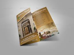 hotel brochure design templates hotel and motel tri fold brochure template by owpictures