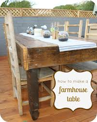 How To Make A Kitchen Table by How To Make A Rustic Farmhouse Table