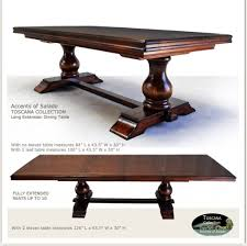 extra long dining room table sets grand italiano dining table