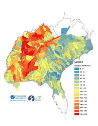 Tennessee On The Map by Tennessee Aquarium Uga Publish Study Of Imperiled Waterways