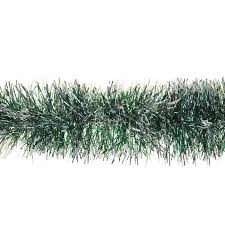 2m snow tipped tinsel garland 6ply thick tree home