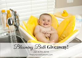 how to bathe baby in sink blooming bath giveaway