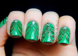 christmas water marble nail art design water nails art