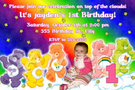 care bears birthday party invitations image collections