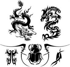 awesome tribal dragon tattoo design template tribal tattoos