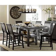 Distressed Black Dining Table Amazon Com Complete Counter Table In Distressed Pine Table