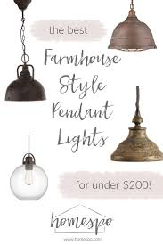 Kitchen Pendant Light Fixtures by My Favorite Farmhouse Style Kitchen Pendant Lights For Under 200