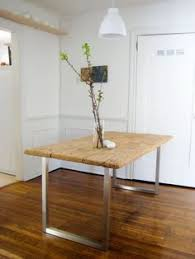 Diy Dining Room Tables I Like This Idea But With Buying Butcher Block Ikea Counter As The