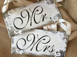 mr and mrs sign for wedding mr and mrs sign set wedding signs chair signs 2522874 weddbook