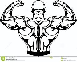 bodybuilding and powerlifting vector stock images image 38509994