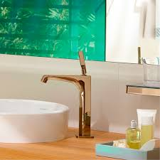 axor citterio e basin tap in rose gold faucets pinterest