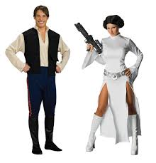 Family Star Wars Halloween Costumes Amazon Com Star Wars Dlx Han Solo Std U0026 Princess Leia Medium