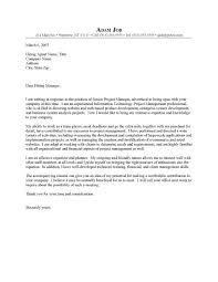 best sample cover letter project manager position 94 with