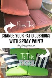 How To Paint Metal Patio Furniture - yes i actually spray painted my patio cushions orc week 5