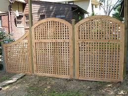 wood lattice wall outdoor vinyl lattice privacy screens arched