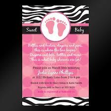 Mod Baby Shower by Zebra Print Baby Shower Invitations Blueklip Com