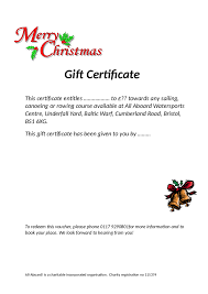 homemade gift certificates templates for christmas certificates