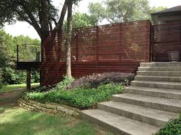 ipe wood deck and custom screen fence