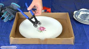 How To Make A Mosaic Table Top Mosaics 101 How To Break China For Mosaics Youtube