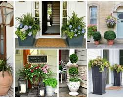Porch Planter Ideas by Front Doors Free Coloring Front Door Planter Idea 97 Front Porch