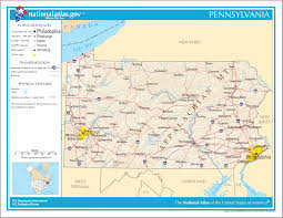 Pennsylvania Map by Map Of Pennsylvania Na 1 U2022 Mapsof Net